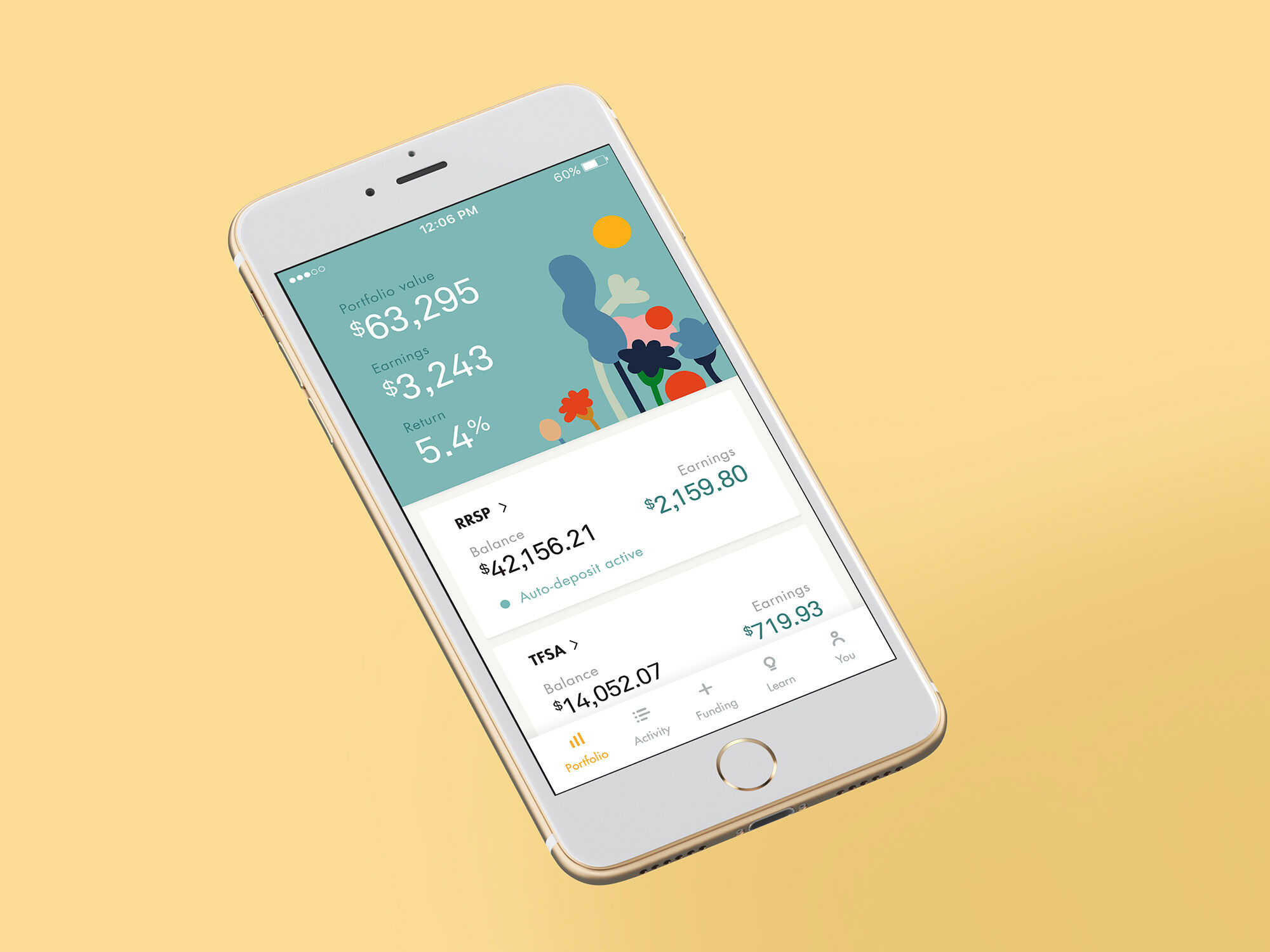 Wealthsimple's automated investing app maximizes your returns and also offers a Socially Responsible Investment (SRI) feature.