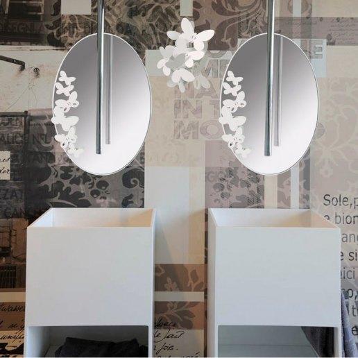 Immagine per BUTTERFLY OVALE - Specchio - ARTI & MESTIERI