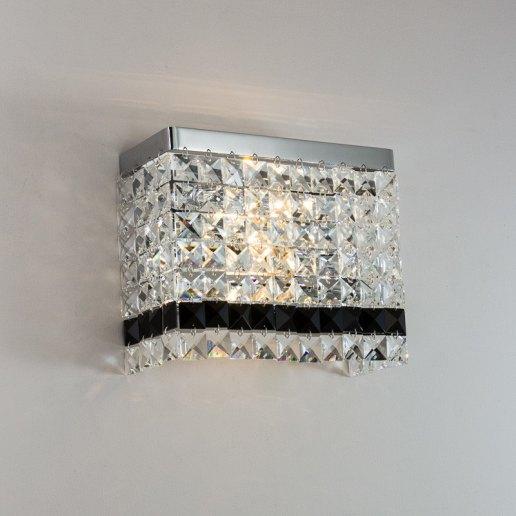 Immagine per Lucciola 2 luci E14 - 126 cristalli - Applique moderna - OLUX ILLUMINAZIONE