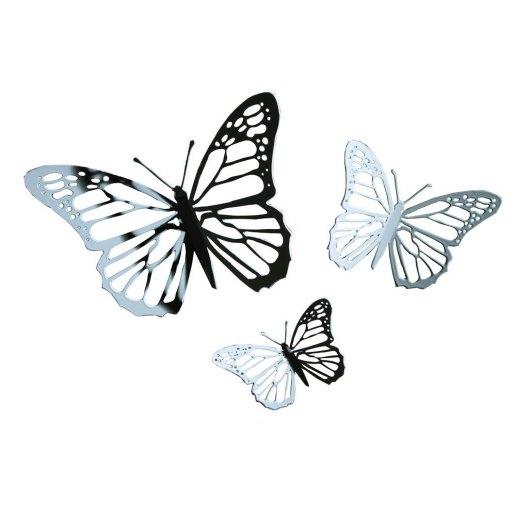 Immagine per Farfalla - in metallo - traforato di colore bianco - KARMAN