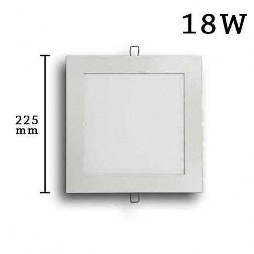 Immagine per Faretto incasso Led Slim quadrato 18 watt (225mm) - Olux Illuminazione