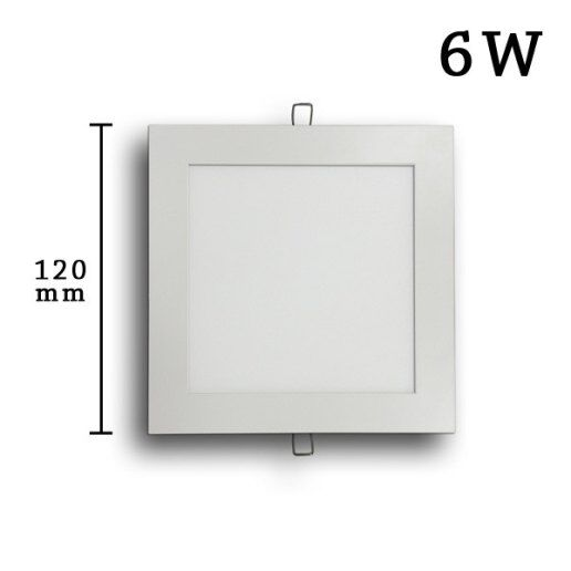 Immagine per Faretto incasso LED Slim quadrato 6w (120mm) - Olux Illuminazione