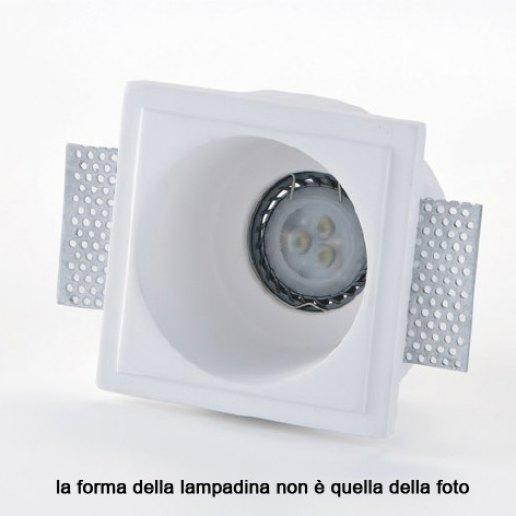 Immagine per Faretto incasso in gesso a rasare 111x111mm LED 7W (incluso) – OLUX ILLUMINAZIONE