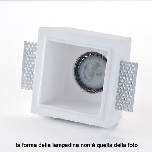 Immagine per Faretto incasso in gesso a rasare 100x100mm LED 7W (incluso) – OLUX ILLUMINAZIONE