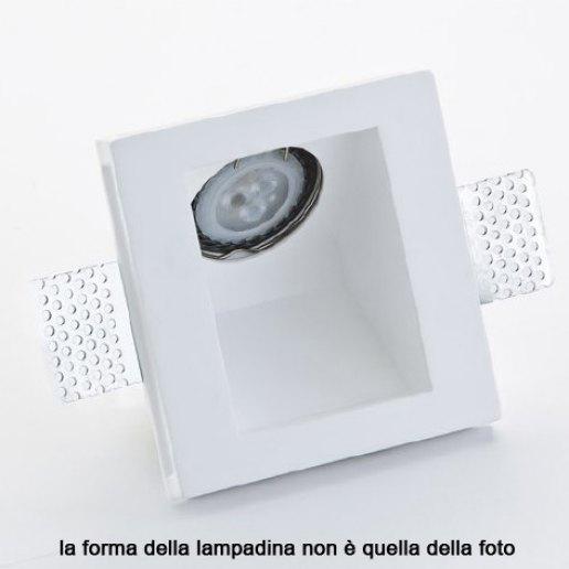 Immagine per Faretto incasso in gesso a rasare 120x120mm con lampada 45 gradi LED 7W (inclusa) – OLUX ILLUMINAZIONE