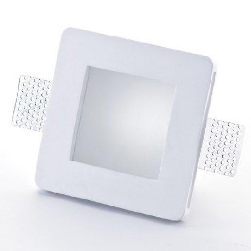 Immagine per Faretto incasso in gesso a rasare con vetro 120x120mm LED 7W (incluso) – OLUX ILLUMINAZIONE