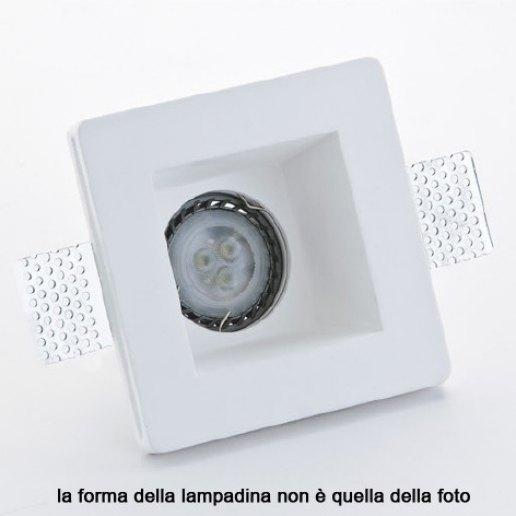 Immagine per Faretto incasso in gesso a rasare 120x120mm LED 7W (incluso) – OLUX ILLUMINAZIONE
