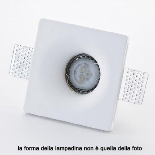 Immagine per Faretto incasso in gesso a rasare svasato 120x120mm LED 7W (incluso) – OLUX ILLUMINAZIONE