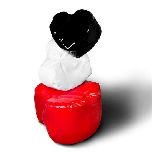 Immagine per Pouf Cuore piccolo Pop ecopelle lucida imbottito - Avalon