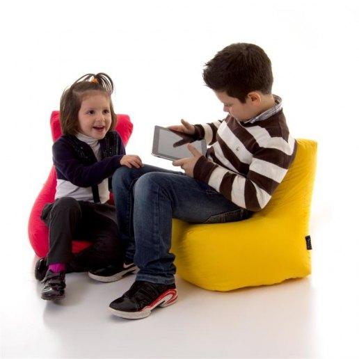 Immagine per Pouf poltroncina MINI-LADY Jive tessuto tecnico antistrappo imbottito - idea regalo bambini - Avalon