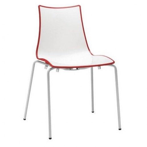 Immagine per Zebra Bicolore (4 gambe telaio bianco) Sedia Design Scab Design