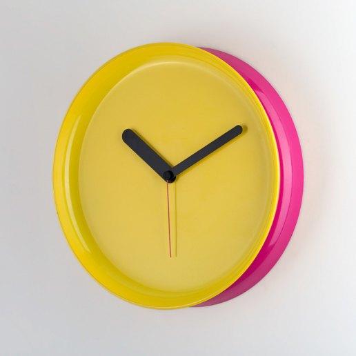 Immagine per Yo-Yo fucsia-giallo - orologio da parete - OWATCH