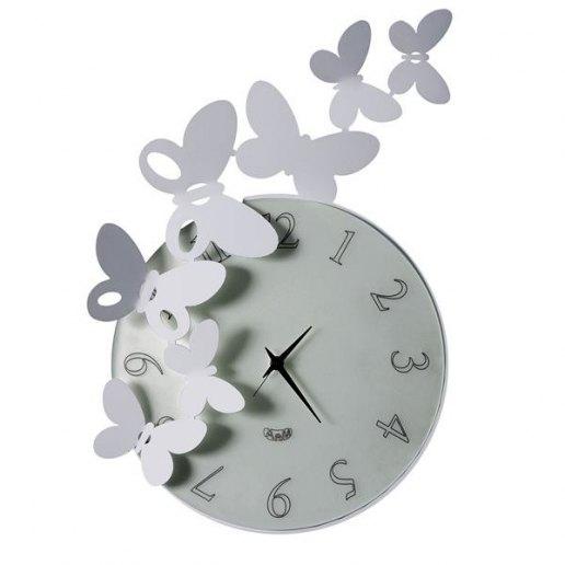 Immagine per Buttefly Tondo Alluminio - Orologio da parete - Arti e Mestieri