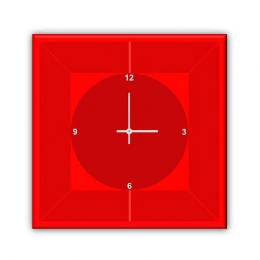 Immagine per Spazio Rosso - Orologio da Parete - OraQuadra