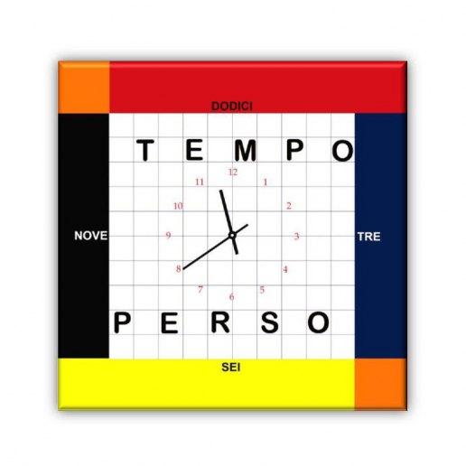 Immagine per Tempo Perso - Orologio da Parete - OraQuadra