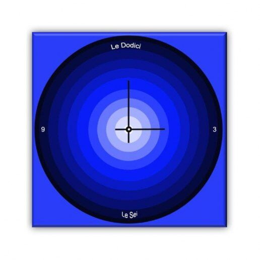 Immagine per Cerchi Blu - Orologio da Parete - OraQuadra