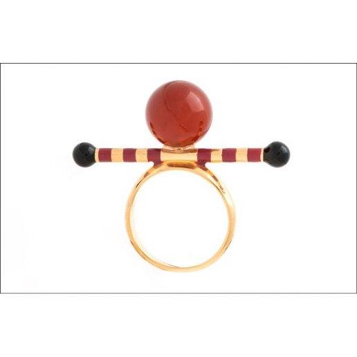 Immagine per Anello stick 1 pietra a sfera - Gioelli - Ida Callegaro