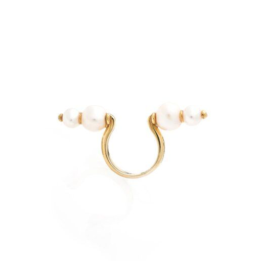 Immagine per Anello con perle d'acqua dolce (4 perle) - Gioielli - Ida Callegaro