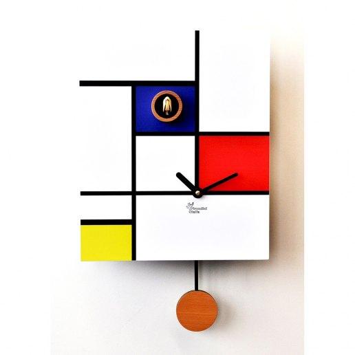 Immagine per Around Mondrian - Orologio da parete con pendolo e cucù - PIRONDINI