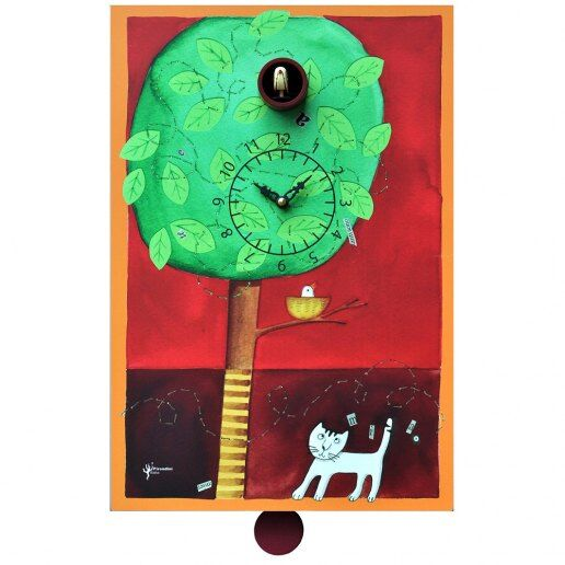 Immagine per Sul ramo - Orologio da parete con pendolo e cucù - PIRONDINI
