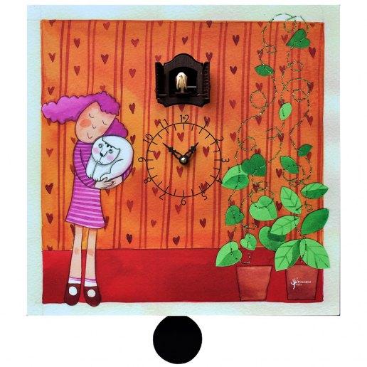 Immagine per Coccole - Orologio da parete con pendolo e cucù - PIRONDINI