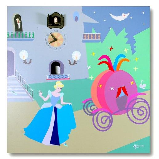 Immagine per Cenerentola notte - Orologio da parete con pendolo e cucù - PIRONDINI