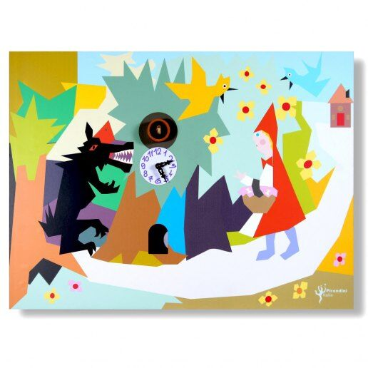 Immagine per Cappuccetto rosso - Orologio da parete con cucù - PIRONDINI