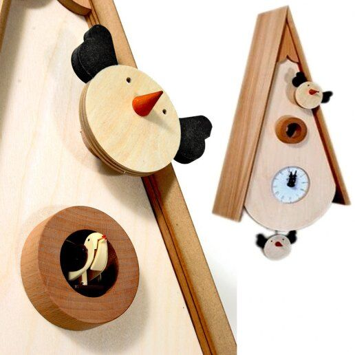 Immagine per Uccellini - Orologio da parete con pendolo e cucù - PIRONDINI