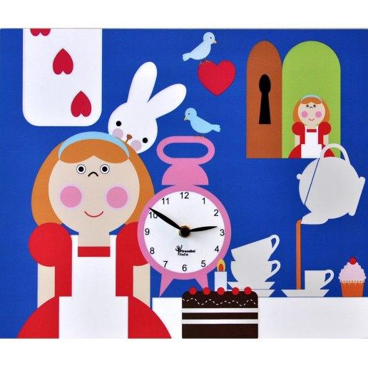 Immagine per Alice nel paese delle meraviglie - Orologio da parete - PIRONDINI