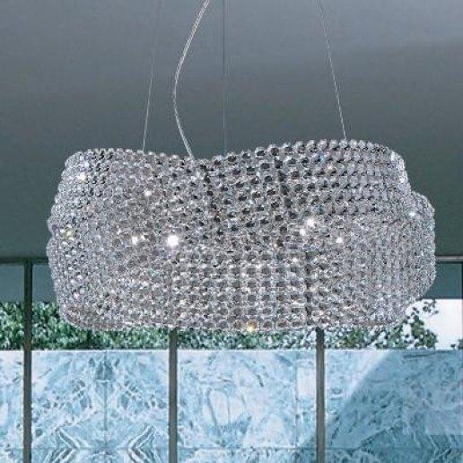 Lampadari A Sospensione Cristallo.Diamante 150 Cristallo Lampadario Sospensione Marchetti Illuminazione
