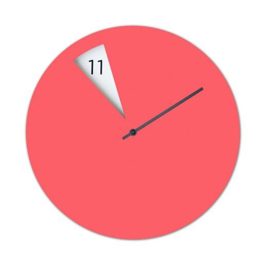 Immagine per FreakishCLOCK Pinkish (Rosa) - Orologio da parete - Sabrina Fossi Design