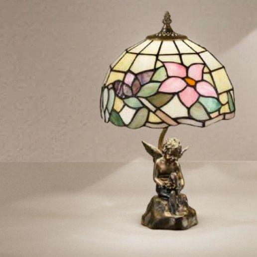 Immagine per Tiffany e complementi d'arredo 11 X 45 cm + paralume 102 vetri - Lampada da tavolo - PERENZ