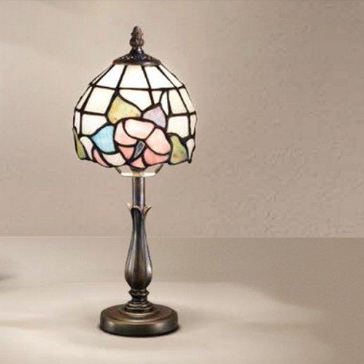 Immagine per Tiffany e complementi d'arredo 34x9 cm + paralume 66 vetri (14 cm) - Lampada da tavolo - PERENZ