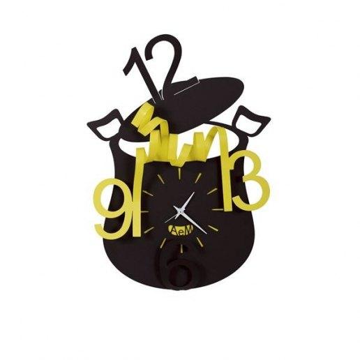 Immagine per Chef Nero/Giallo - Orologio da parete - Arti e Mestieri