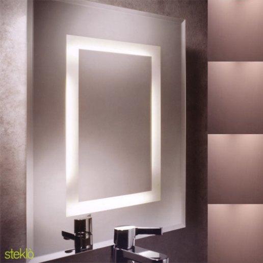 Stekl specchio con luce pan international - Specchio con lampadine ...