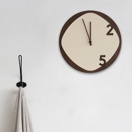 Immagine per Clock25 - Dark Wood - Orologi da parete - Sabrina Fossi Design