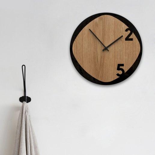 Immagine per Clock25 - Wood & Black - Orologi da parete - Sabrina Fossi Design