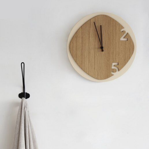 Immagine per Clock25 - Light Wood - Orologi da parete - Sabrina Fossi Design
