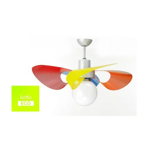 Soffio Eco con luce e pale blu - Ventilatore da soffitto ...