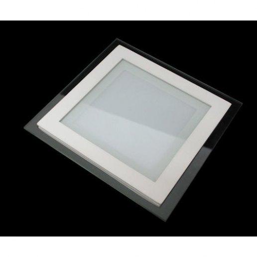 Faretti Da Incasso A Led.Faretto Incasso Led Slim Quadrato Vetro 18 Watt 200mm Olux Illuminazione