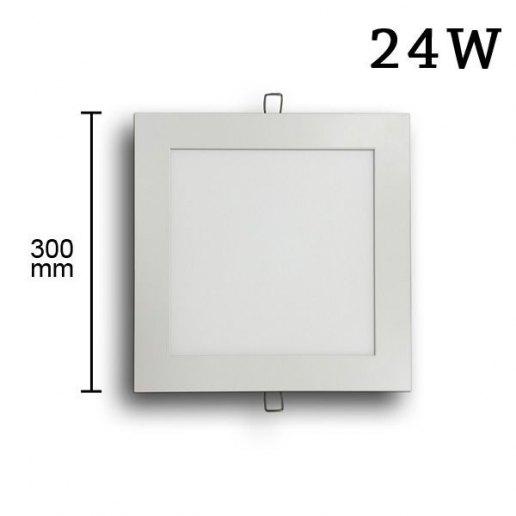 Immagine per Faretto incasso Led Slim quadrato 24 watt 6500k (300mm) - Olux Illuminazione