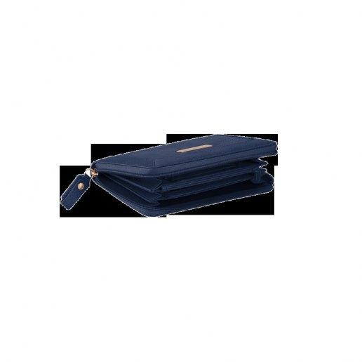 Immagine per Portafoglio donna, quattro soffietti, con zip, porta monete e porta carte di credito Shimmer BLU OLTREMARE - PIQUADRO