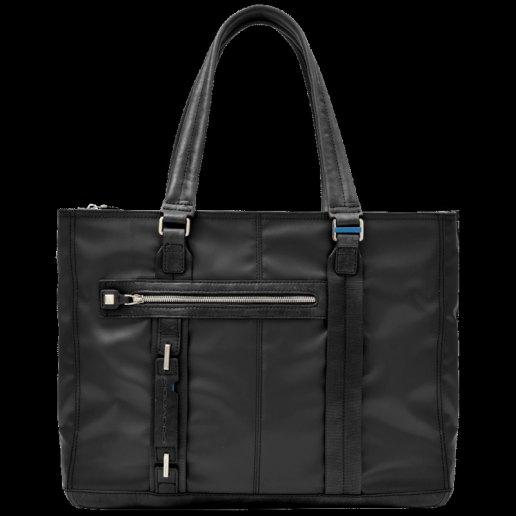Immagine per Shopping bag grande espandibile con tasca frontale, porta computer, porta iPad P-cube NERO - PIQUADRO