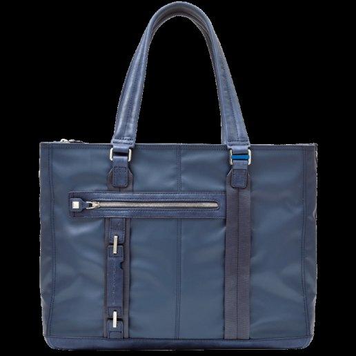 Immagine per Shopping bag grande espandibile con tasca frontale, porta computer, porta iPad P-cube BLU COBALTO - PIQUADRO