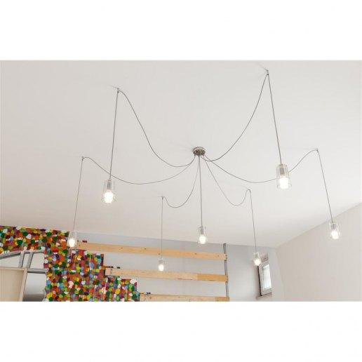 Immagine per Sunglass Mojito S7 7 luci decentrato - Lampadario moderno - OLUX ILLUMINAZIONE