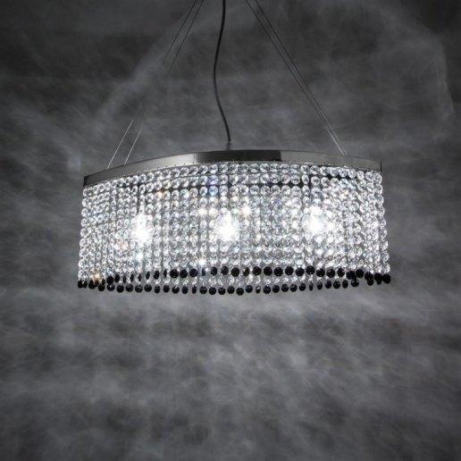 Oval 50 cm 3 luci 532 cristalli - Lampadario cristallo - OLUX ...