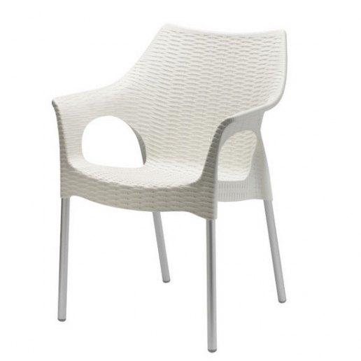Immagine per Olimpia (gambe anodizzate) Sedia Design Scab Design  -  Lino