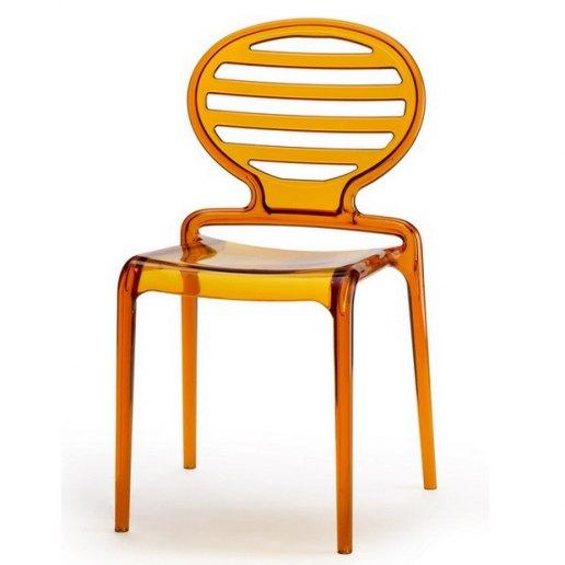 Immagine per Cokka Chair Sedia design Scab Design - Trasparente Arancio