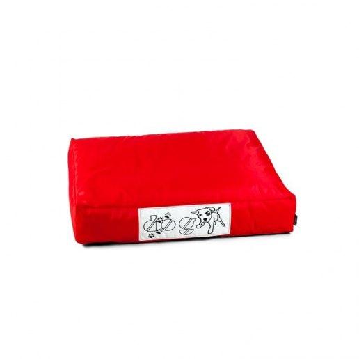 Immagine per Pouf dog CUSCINO piccolo per cane nylon plasticato Blues rosso imbottito - Avalon