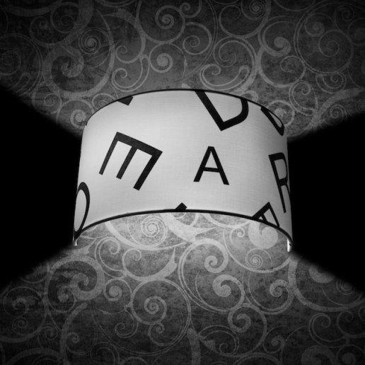 Immagine per Roary ABC W 1 luce bianco e nero - applique moderna - OLUX ILLUMINAZIONE - applique moderna - OLUX ILLUMINAZIONE